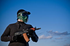 Joueur d'Airsoft images stock