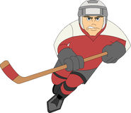 Joueur d'hockey Photo stock