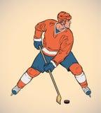 Joueur d'hockey illustration libre de droits