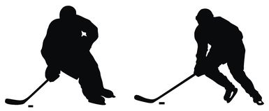 Joueur d'hockey Images stock