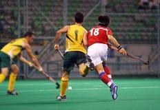 Joueur d'hockey dans l'action Image libre de droits