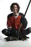 Joueur d'hockey Sourire-Vertical photos stock