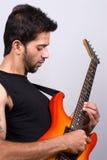 joueur d'Indien de guitare Images stock