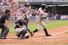 Joueur dans l'extra-champs Gorkys Hernandez d'Indiens d'Indianapolis Images stock