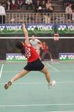 Joueur de badminton Photographie stock libre de droits