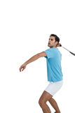 Joueur de badminton jouant le badminton Photos libres de droits