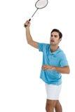 Joueur de badminton jouant le badminton Photo stock