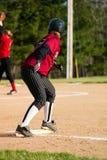 Joueur de base-ball féminin images stock