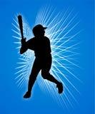 Joueur de baseball Image libre de droits