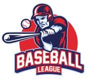 Joueur de baseball dans l'action Image libre de droits