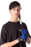 Joueur de baseball de l'adolescence de garçon Photo stock