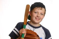 Joueur de baseball de sourire photos libres de droits