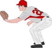 Joueur de baseball, illustration détaillée illustration libre de droits