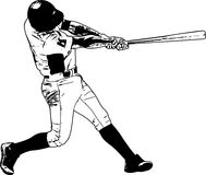 Joueur de baseball, illustration de croquis Photographie stock