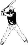 Joueur de baseball, illustration de croquis illustration stock