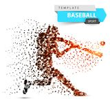 Joueur de baseball - illustration de point de couleur Illustration Libre de Droits