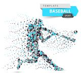 Joueur de baseball - illustration de point de couleur sur le fond blanc Illustration de Vecteur