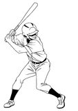 Joueur de baseball prêt à frapper Photo stock