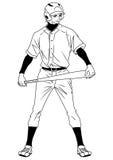 Joueur de baseball prêt au jeu Images libres de droits