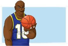 Joueur de basket avec la bille Photos stock