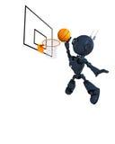Joueur de basket d'Android Photographie stock