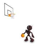 Joueur de basket d'Android Photographie stock libre de droits