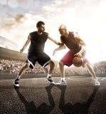 Joueur de basket dans l'action Images stock