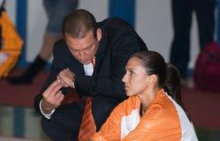 Joueur de basket Svetlana Abrosimova Image libre de droits