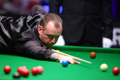 Joueur de billard, Mark Williams image libre de droits