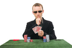 Joueur de cartes Photo stock