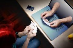 Joueur de casino de tisonnier Images libres de droits
