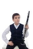 Joueur de clarinette Image libre de droits