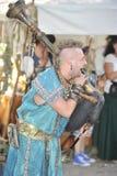 Joueur de cornemuse au festival médiéval, Nuremberg 2013 Photographie stock
