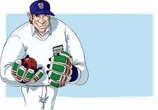 Joueur de cricket Images libres de droits
