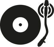 Joueur de disque vinyle de plaque tournante illustration libre de droits