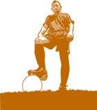 Joueur de football illustration de vecteur