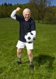 Joueur de football aîné Photos stock