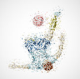 Joueur de football abstrait Image stock