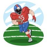 Joueur de football américain avec une boule illustration libre de droits
