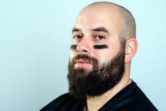 Joueur de football américain barbu photo libre de droits