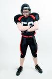 Joueur de football américain dans le casque Images libres de droits