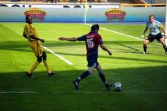 Joueur de football avec la bille Photos libres de droits