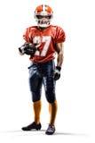 Joueur de football d'Americam Photographie stock libre de droits