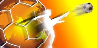Joueur de football de classe du monde Images libres de droits