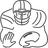 joueur de football de dessin animé illustration stock