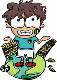 Joueur de football de l'Italie images stock