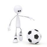 joueur de football de la personne 3d. Images libres de droits