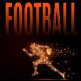 Joueur de football poly Images stock