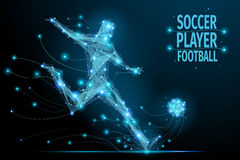 Joueur de football polygonal Photo libre de droits