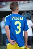 Joueur de football roumain Razvan Prodan image stock